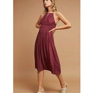 Anthropologie Plum Prune Midi Dress